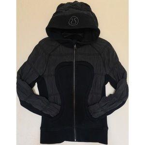 Lululemon Rare Edition Black Scuba Hoodie - Size 6